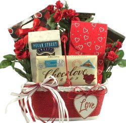 Cupid's Heart -Gourmet Valentine's Day Gift Basket of Chocolates and Truffles