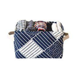 ruiycltd Linen Cotton Cosmetic Storage Basket Bag Box Sundries Underwear Organizer Holder Contai ...