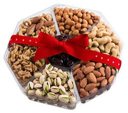 Valentine's Day Large Nut Gift Basket, Unique Healthy Online Prime Delivery Idea For Roman ...