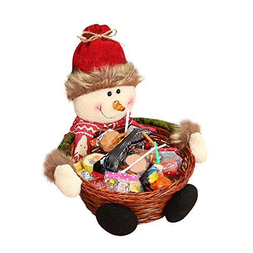 Thenxin Basket!Christmas Gift Candy Storage Basket Decoration Santa Claus Storage Basket (Snowma ...