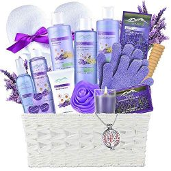Gift Baskets -the #1 Choice Valentine Gift Ideas – Bath and Body Spa Basket For Women &amp ...