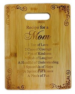 Recipe for a Mom Cute Funny Laser Engraved Bamboo Cutting Board – Wedding, Housewarming, A ...