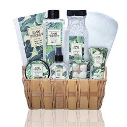 Rain Forrest Lush Bath and Body Spa Gift Set with Green Tea and Bamboo Essential Oils – Pr ...