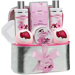 Valentine's Day Gifts – Bath and Body Gift Basket For Women – Cherry Blossom Home Sp ...