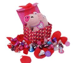 'Hogs and Kisses' and Sweet Valentine Wishes – Hershey Kiss Chocolate Gift Bas ...
