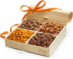 SimplyCrave Holiday Gift Tray, 4 Sectional Nuts Gift Box with Stunning Presentation – Gour ...
