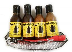 """The Wade's Southern Sampler"" Gift Basket Featuring All Four of Our Sauces (fu ..."