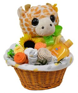New Baby Wicker Basket Gift Set