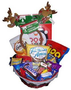 Holiday Candy Gift Basket for Boy or Girl | Filled With Candy,Chocolates, Games and Headband | P ...