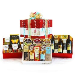 Wine, Cheese and Gourmet Celebration Pack Gift Basket
