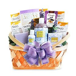 California Delicious Luxurious Lavender Retreat Spa Basket, 9 Pound