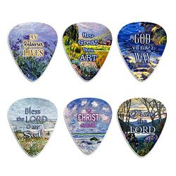 Christian Guitar Picks for Gospel Music – In Christ Alone (12-Pack) – Medium Cellulo ...