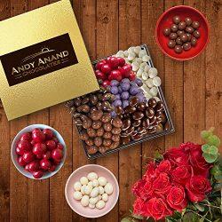 Andy Anand's Dark Chocolates Gift Basket-6 Different 3oz each of Dark Chocolate Cranberries, Cof ...