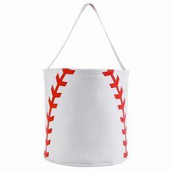 E-FirstFeeling Baseball Basket Easter Basket Easter Hunt Bag Easter Egg Candy Basket Gift Toy Ba ...