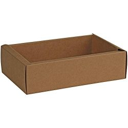 Clear PVC Sleeve DIY Sliding Brown Gift Box-Kraft Paper Luxury Packaging Boxes for Birthday Part ...