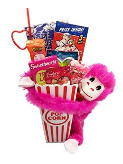 Movie Night Popcorn Care Package – Valentines Day Gifts Basket Plus Free Redbox Movie Rent ...