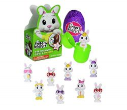 Galerie Easter Bunny Finders Keepers Chocolate Egg With Surprise Fuzzy Fur Bunny 3pk .7oz