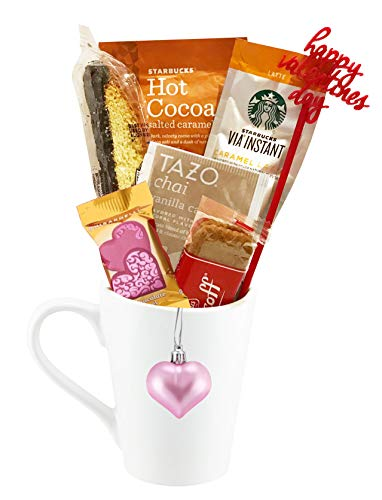 Valentines Day Coffee, Hot Tea, Cocoa Gift (Starbucks Caramel)