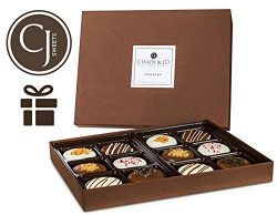 Chain & Jo Sweets Valentine's Day Chocolate Covered Cookies,Gift Box Assortment,Dairy  ...