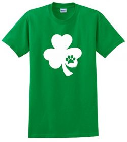 Funny St Patricks Day Outfit Irish Shamrock Pawprint Shamrock Dog or Cat Lover St Patricks Day T ...