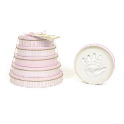 Child to Cherish Handprints Tower Of Time Kit in Pink