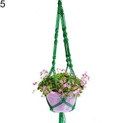 ruiycltd New Year's Gift Hand-Weaved Garden Hanging Plant Flower Pot Holder Basket Rope Bo ...