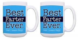 Dad Gifts for Men Best Farter Ever Oops I Meant Father Best Dad Ever Joke 2 Pack Gift 15-oz Coff ...