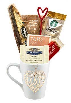 Valentines Day Coffee, Hot Tea, Cocoa Gift (Starbucks Vanilla)