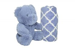 SILVER ONE Plush Stuffed Animal Teddy Bear and Blanket 2 Peice Gift Set for Kids/Children | 40&# ...