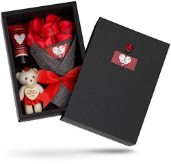 Valentine's Bath and Body Gift Baskets for Women, Spa Gift Basket, Bath Gift Basket – ...