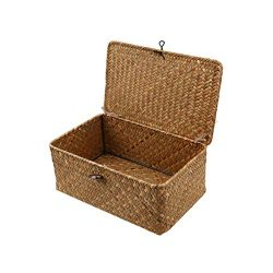 Vosarea Wicker Basket Gift Baskets Empty Oval Willow Woven Picnic Basket Cheap Easter Candy Bask ...