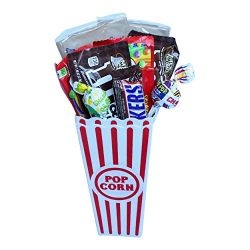 The Best Movie Night Care Package – Gift Basket Includes 2 Popcorn Cups, 2 Microwave Popco ...