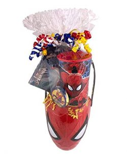 Premade Gift Basket for Boys Prefilled with Spiderman Toys and Games Easter Valentines Birthday