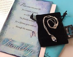 Smiling Wisdom – Blue Silver Leaf Necklace Friendship Gift Set – Reason Season Lifet ...