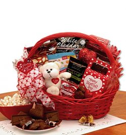 Sugar Free Valentine's Day Gift Basket with Teddy Bear