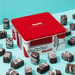 David's Cookies Chocolate Covered Brownie Bites in Signature Tin – Delicious Mini Brownies With  ...