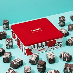 David's Valentines Day Chocolate Covered Brownie Bites in Gift Tin – Delicious Mini Browni ...