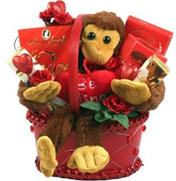 """Be My Valentine – Valentines Day Gift Basket For Men Or Women With plush""""Be MineR ..."""