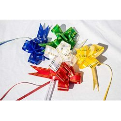 10 Pull Bows for Gift Baskets, Gift Wraps, Presents and Wine Bottles for Christmas, Thanksgiving ...