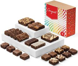 Fairytale Brownies Congratulations Medley Gourmet Chocolate Food Gift Basket for New Home Annive ...