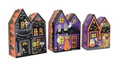 Set of 3 Hallowen Spooky House Nesting Boxes – Perfect for Gift Giving or Decorating