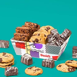 David's Cookies Gourmet Cookies & Brownies Treat Box – Freshly Baked Goods In Signature Gift ...