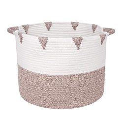 We Care Vida Storage Baskets – Woven Basket Made from Natural Cotton Rope – Baby Lau ...