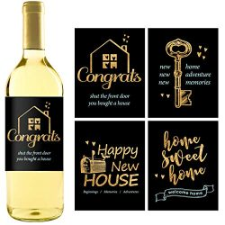8 Rustic House Warming Presents, New Homeowner Stickers or Wine Label Gift Set Ideas, Real Estat ...