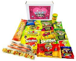 Valentine's Day Sour Candy Variety Assortment Gift Box ~ Toxic Waste, Sour Patch Kids, War ...