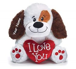 Burton & Burton Personalized Valentine's Day Sitting I Love You Puppy with Heart Plush ...