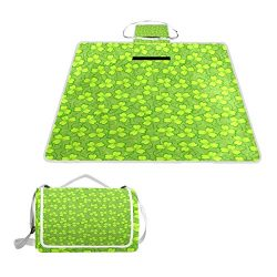 Horatiood Huberyyd Green St Patrick Day Gifts Oversized Picnic Mat Outdoor Camping Beach Travel  ...