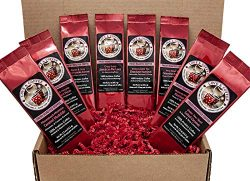 Romantic Gifts for Coffee Lovers Sampler | 8 Fun Delicious Fresh Roasted Gourmet Coffees with Lo ...