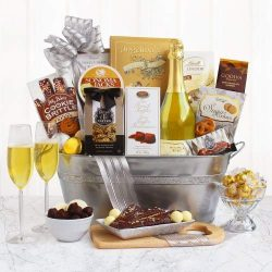 California Romantic Celebration Food Gift Basket