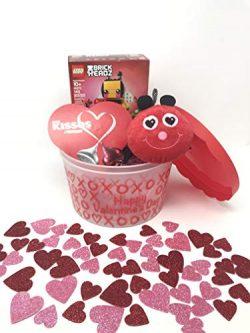 Valentine's Day Children's Basket 4 Piece Gift Set – Valentine's Bee, He ...